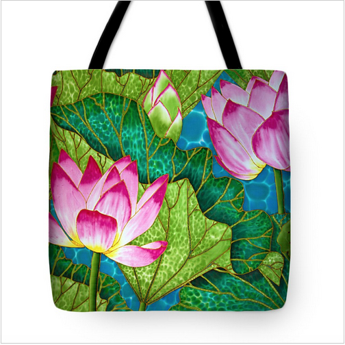 Tote bag on fine Art America