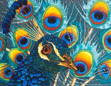 WORLD'S BEST SILK PAINTING ARTIST : JEAN-BAPTISTE : EXOTIC BIRDS