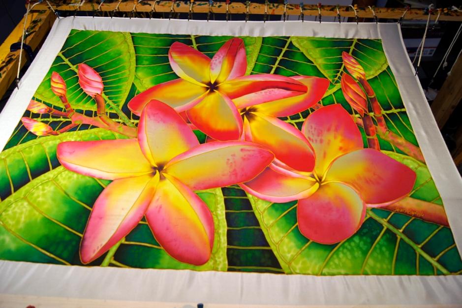 JEAN-BAPTISTE : World's Best Silk Painting Artist : FRANGIPANI
