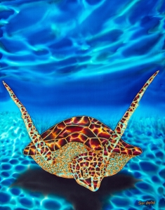 Sea Turtle silk painting