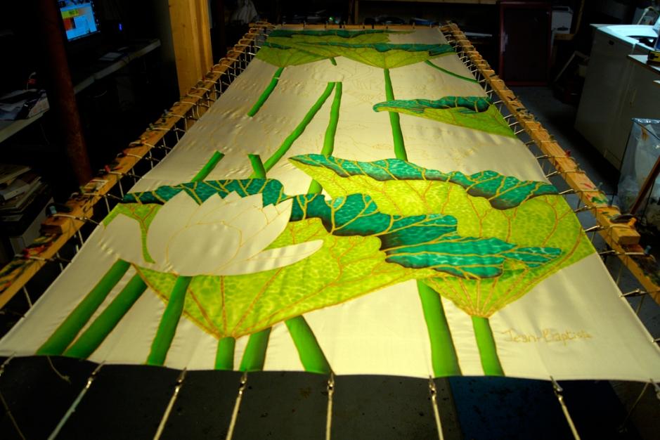 JEAN-BAPTISTE : World's Best Silk Painting Artist : SILK PAINTING INSTALLATION
