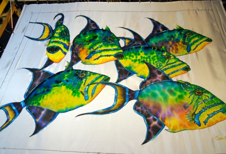 Triggerfish on Silk - JEAN-BAPTISTE