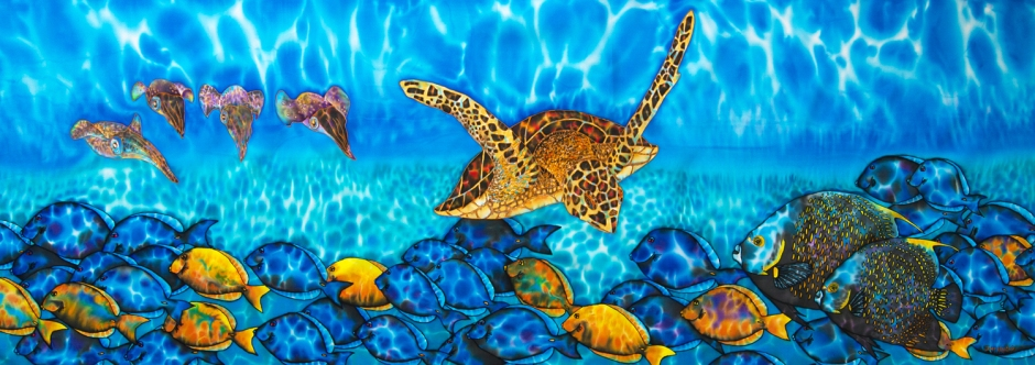 Commission an original silk batik painting : JEAN-BAPTISTE